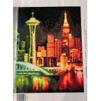 Zestaw do diamond painting - Rozświetlona metropolia