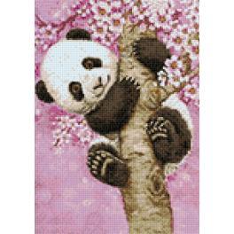 Zestaw do diamond painting - Słodka panda