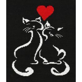 OV 1008 Zestaw do haftu - Kocia miłość
