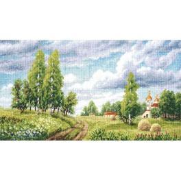 Zestaw z muliną - Wiosenne pola