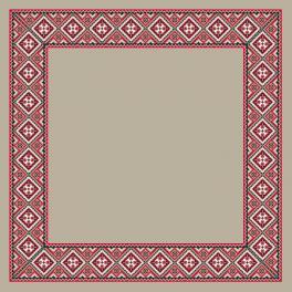 Wzór graficzny - Obrus lniany etniczny I