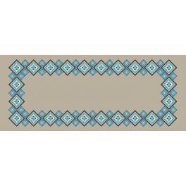 Wzór graficzny online - Bieżnik lniany etniczny II