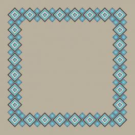 Wzór graficzny online - Obrus lniany etniczny II
