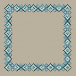 Wzór graficzny - Obrus lniany etniczny II