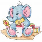 Wzór graficzny online - Niebieski słonik