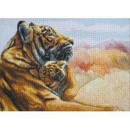Zestaw z muliną i podmalowanym tłem - Czułość matki