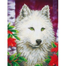 Zestaw do diamond painting - Biały wilk