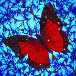 Zestaw do diamond painting - Trzepoczący motyl