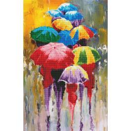 Zestaw do diamond painting - Deszczowy dzień