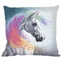 Zestaw z muliną i poszewką - Poduszka - Zaczarowany koń