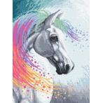Zestaw z nadrukiem i muliną - Zaczarowany koń