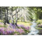 Aida z nadrukiem - Wiosenny las