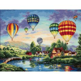 Zestaw z muliną - Lot balonem