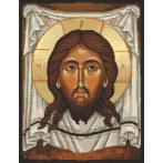 Aida z nadrukiem - Ikona Chrystusa