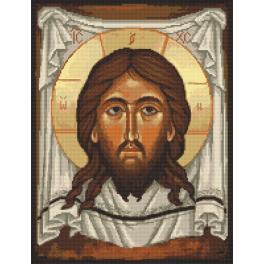 Zestaw z nadrukiem i muliną - Ikona Chrystusa