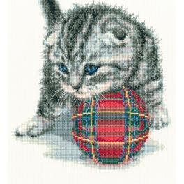 Zestaw z muliną - Zabawny kociak