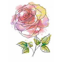 Zestaw z nadrukiem i muliną - Cudowna róża