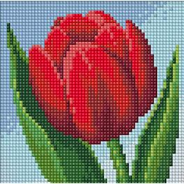 Zestaw do diamond painting - Tulipan