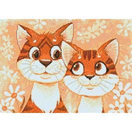 Zestaw do diamond painting - Zakochane koty
