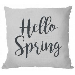 Wzór graficzny - Poduszka - Hello Spring