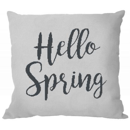 Zestaw z muliną i poszewką - Poduszka - Hello Spring