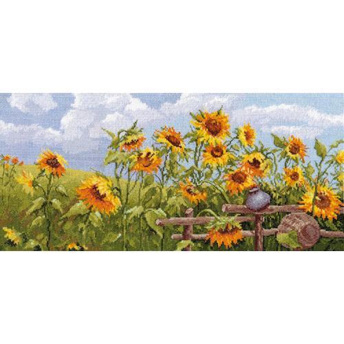 Zestaw z muliną - Słonecznikowe pole