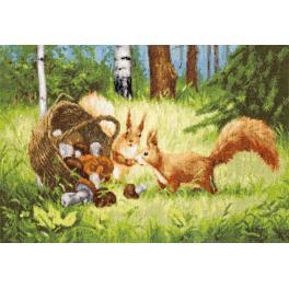 Zestaw z muliną - Wiewiórki