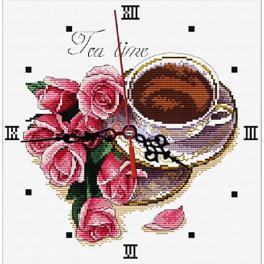 Zestaw z muliną - Zegar z różami