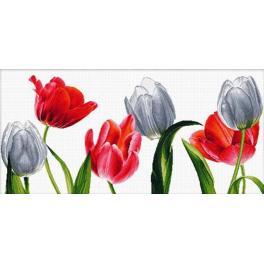 Zestaw z muliną - Sześć tulipanów
