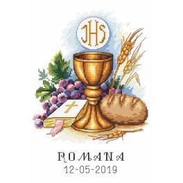 ZN 10208 Zestaw do haftu z nadrukiem - Pamiątka I Komunii Świętej
