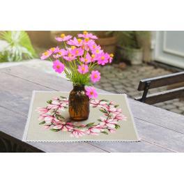ZU 10206 Zestaw do haftu - Serwetka z magnolią