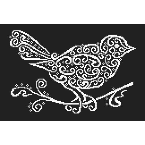 Wzór graficzny ONLINE - Koronkowy ptaszek