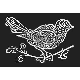 Wzór graficzny - Koronkowy ptaszek