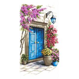 Kanwa z nadrukiem - Tajemnicze drzwi