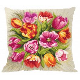 Wzór graficzny - Poduszka - Czarujące tulipany
