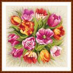 Wzór graficzny ONLINE - Czarujące tulipany