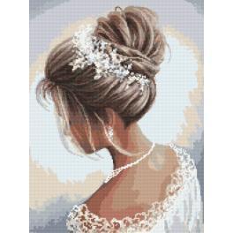 Kanwa z nadrukiem - Dama w bieli