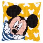 Zestaw z muliną - Poduszka - Mickey bawi się w chowanego
