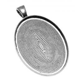 Baza medalionu owalna kolor srebrny 30x40mm