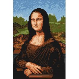 Kanwa z nadrukiem - Mona Lisa - Leonardo da Vinci