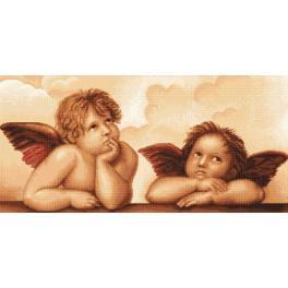 LS B319 Zestaw do haftu - Aniołki wg Michała Anioła
