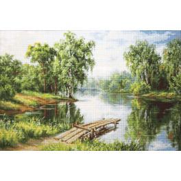 Zestaw z muliną - Spokojne miejsce nad wodą