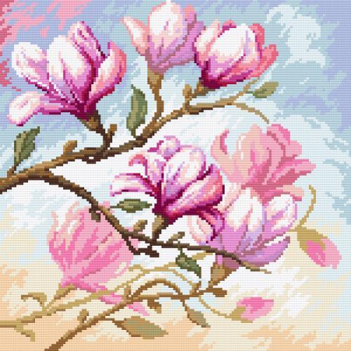 Zestaw do diamond painting - Kwitnąca magnolia