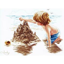 Zestaw z muliną - Chłopiec z zamkiem