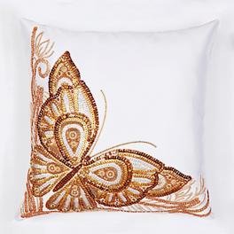 Zestaw z koralikami - Poduszka - Motyl