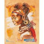 Zestaw z muliną i podmalowanym tłem - Afrykanka