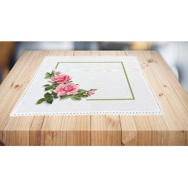 W 10177 Wzór graficzny ONLINE - Serwetka z różami 3D
