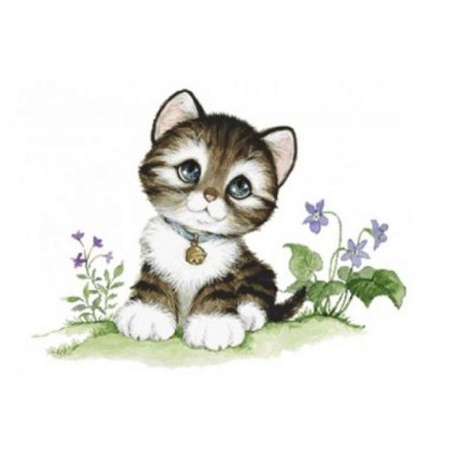 Zestaw do diamond painting - Mały kociak