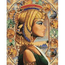 WD139 Zestaw do diamond painting - Królowa Egiptu