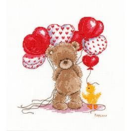 Zestaw z muliną - Śliczne balony